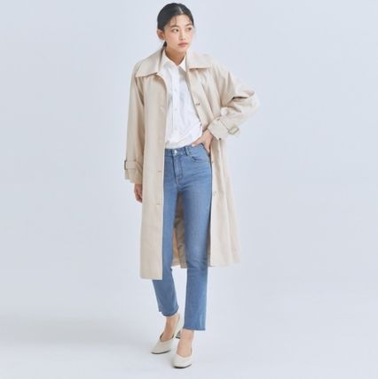 MIXXO Trench Casual Style Plain Long Party Style Office Style Oversized 3