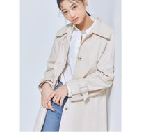 MIXXO Trench Casual Style Plain Long Party Style Office Style Oversized 5