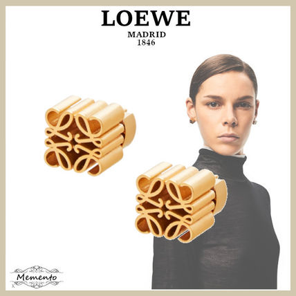 LOEWE Anagram Casual Style Unisex Street Style Party Style Brass