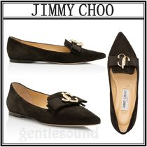 Jimmy Choo Casual Style Suede Plain Leather Office Style Elegant Style