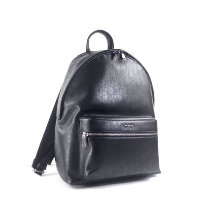 Christian Dior Monogram Canvas A4 2WAY Leather Backpacks