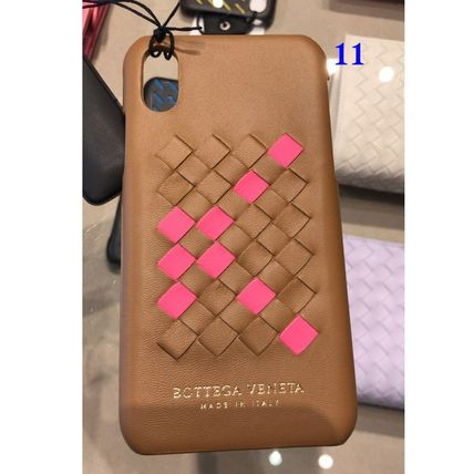 BOTTEGA VENETA Unisex Leather iPhone X Smart Phone Cases