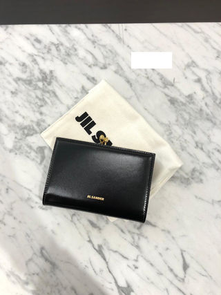 Jil Sander Plain Logo Folding Wallets