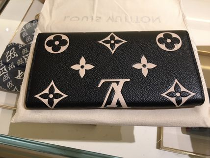 Louis Vuitton Monogram Leather Logo Long Wallets