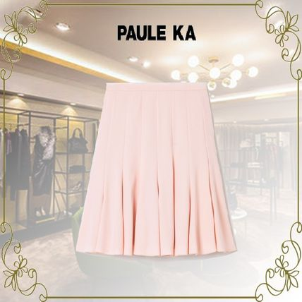 Paule Ka Short Plain Mini Skirts
