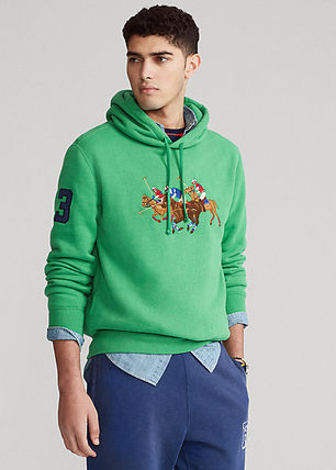 Ralph Lauren Street Style Long Sleeves Surf Style Hoodies