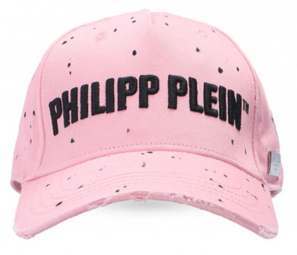 Unisex Blended Fabrics Street Style Icy Color Caps