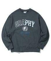 Code graphy Pullovers Unisex Street Style Long Sleeves Oversized Logo