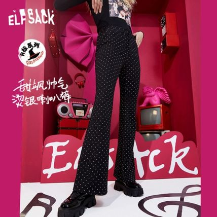 ELF SACK Printed Pants Dots Casual Style Long Street Style