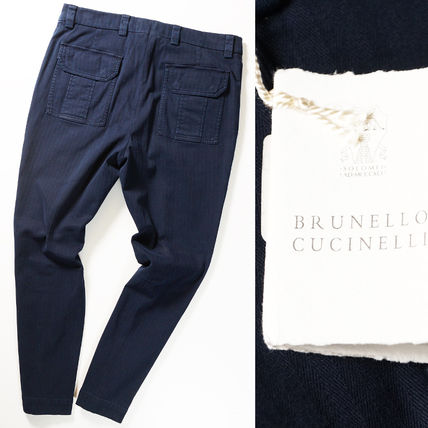 BRUNELLO CUCINELLI Tapered Pants Cotton Military Tapered Pants