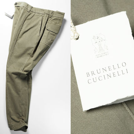 BRUNELLO CUCINELLI Military Tapered Pants Cotton Tapered Pants