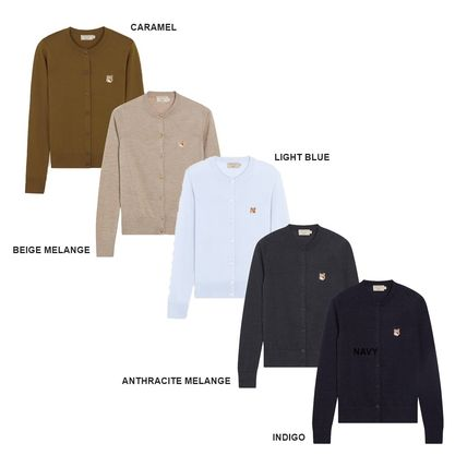 MAISON KITSUNE Casual Style Wool Street Style Long Sleeves Plain