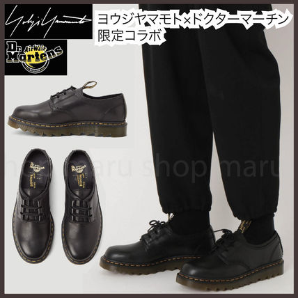 Yohji Yamamoto Unisex Street Style Collaboration Leather Logo Oxfords