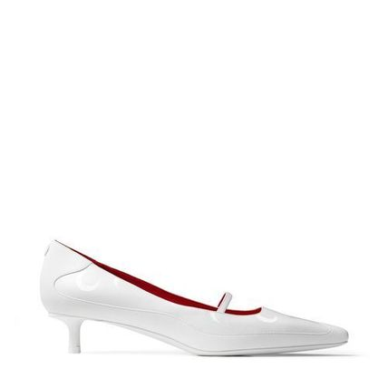 Jimmy Choo Square Toe Casual Style Blended Fabrics Collaboration