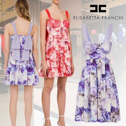 Short Flower Patterns Flared Cotton Party Style Lace Bridal