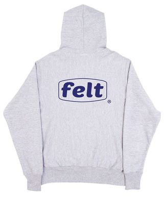 Pullovers Street Style Long Sleeves Cotton Logo Hoodies