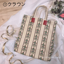 GUCCI Stripes Flower Patterns Casual Style Canvas Street Style A4