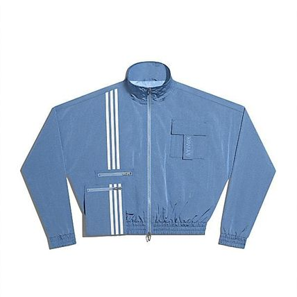 Logo Stripes Unisex Nylon Collaboration Street Style Jackets