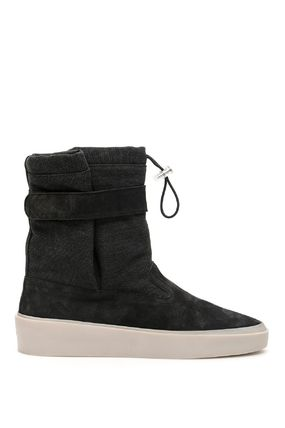 FEAR OF GOD Plain Toe Suede Blended Fabrics Street Style Plain Logo