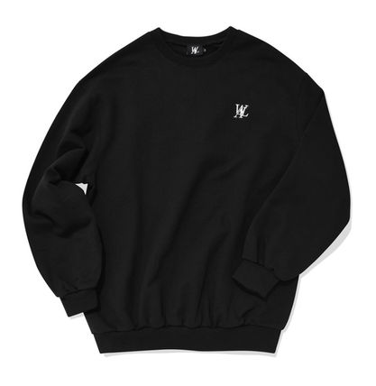 WOOALONG Unisex Sweat Street Style Cotton Logo Sweatshirts