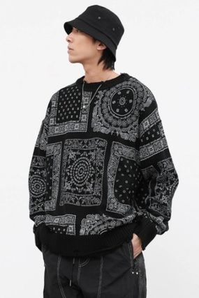 Unisex Long Sleeves Street Style Sweaters