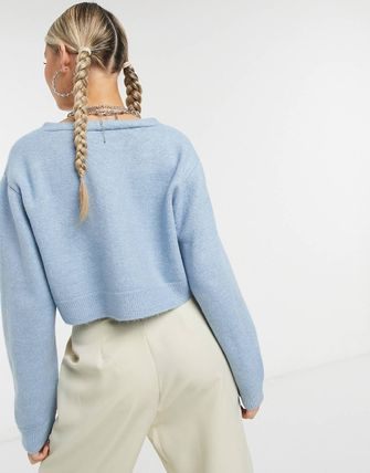 ASOS Collusion Boxy Cardigan In Blue