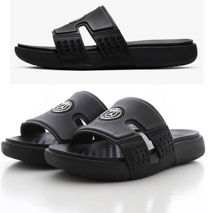 Nike AIR JORDAN Flipflop Logo Unisex Plain Street Style Shower Shoes Sandals