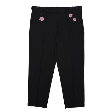 Y-3 Street Style Collaboration Plain Logo Cropped Pants