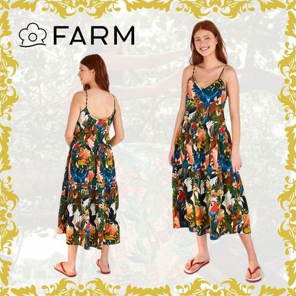 Tropical Patterns Casual Style Maxi Other Animal Patterns