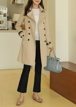 Faux Fur Trench Coats