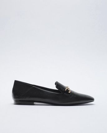 ZARA Casual Style Elegant Style Loafer & Moccasin Shoes