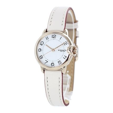 Coach Casual Style Round Party Style Jewelry Watches Stainless