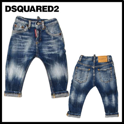 D SQUARED2 Organic Cotton Street Style Oversized Baby Boy Bottoms
