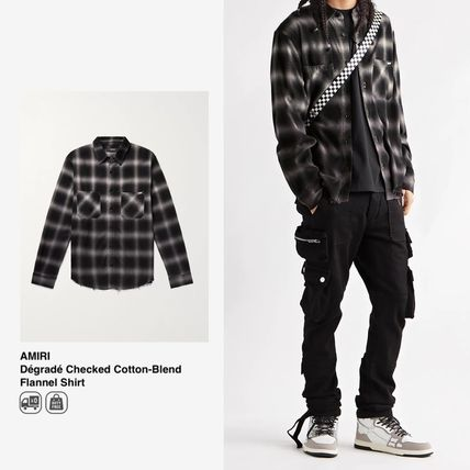 AMIRI Shirts Button-down Other Plaid Patterns Street Style Long Sleeves