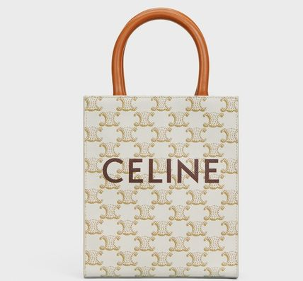 CELINE Cabas Casual Style Canvas 2WAY Party Style Elegant Style Crossbody