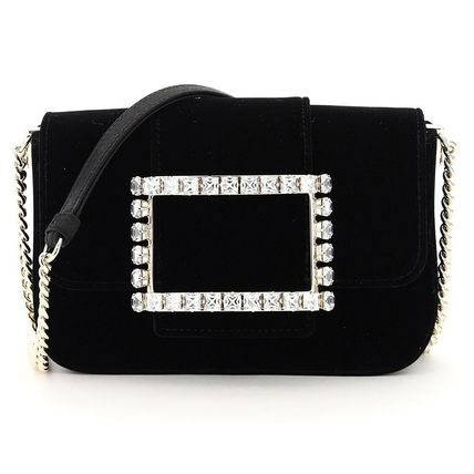 Roger Vivier Blended Fabrics Studded 2WAY Chain Party Style Elegant Style