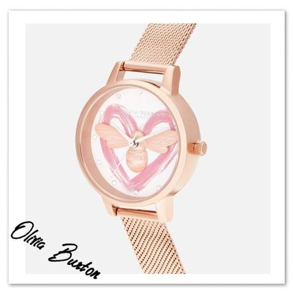 Casual Style Round Quartz Watches Stainless Office Style