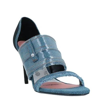 DIESEL Round Toe Casual Style Studded Plain Pin Heels