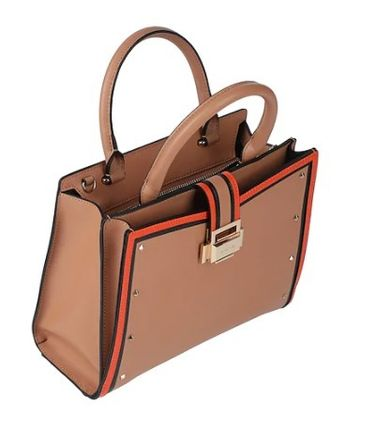 Plain Leather Party Style Office Style Handbags