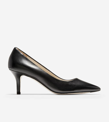 Cole Haan Suede Plain Leather Pin Heels Party Style Office Style
