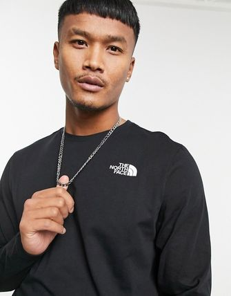 THE NORTH FACE Crew Neck Street Style Long Sleeves Plain Cotton