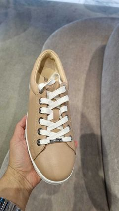 Jimmy Choo Star Round Toe Rubber Sole Casual Style Studded Street Style