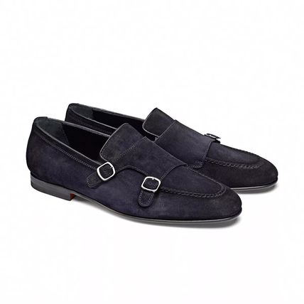 Moccasin Suede Plain Leather Loafers & Slip-ons