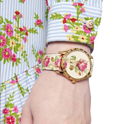 GUCCI Round Casual Style Unisex Party Style Quartz Watches