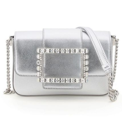 Roger Vivier Calfskin 2WAY Chain Plain Party Style With Jewels