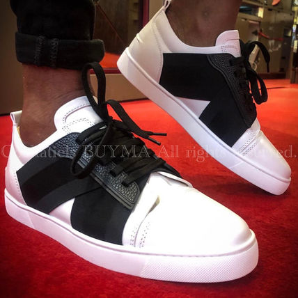 Christian Louboutin Street Style Plain Leather Logo Loafers & Slip-ons