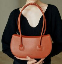 ndearose Casual Style 2WAY Plain Leather Elegant Style Shoulder Bags