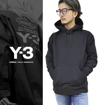 Y-3 Pullovers Unisex Street Style Long Sleeves Cotton Oversized
