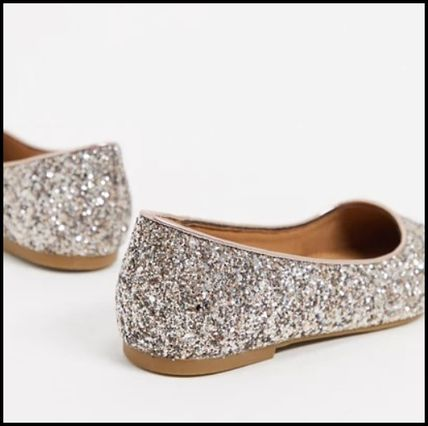 ASOS Glitter Pointed Toe Shoes