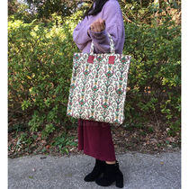 GUCCI Flower Patterns Paisley Casual Style Canvas A4 Elegant Style